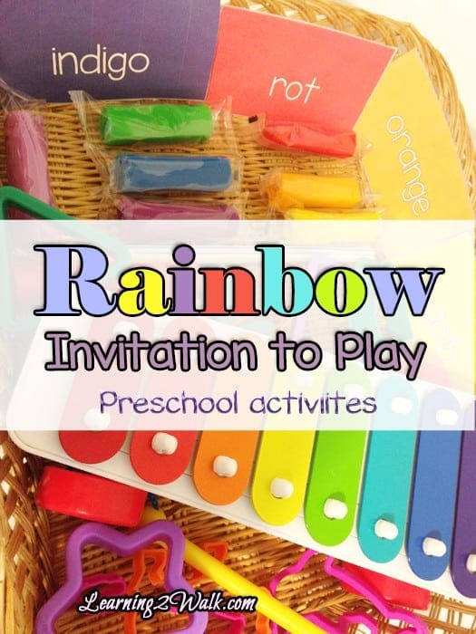 Rainbows are the talk of the town right now so I created a rainbow preschool activity for her.