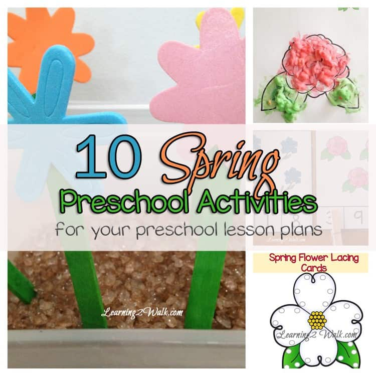 10 spring preschool activities for your preschool lesson plans. Looking for Spring Preschool Activities to add to your lesson plan? Try a few of these Spring Math, Spring Sensory, Spring Science , Spring Art and packs.