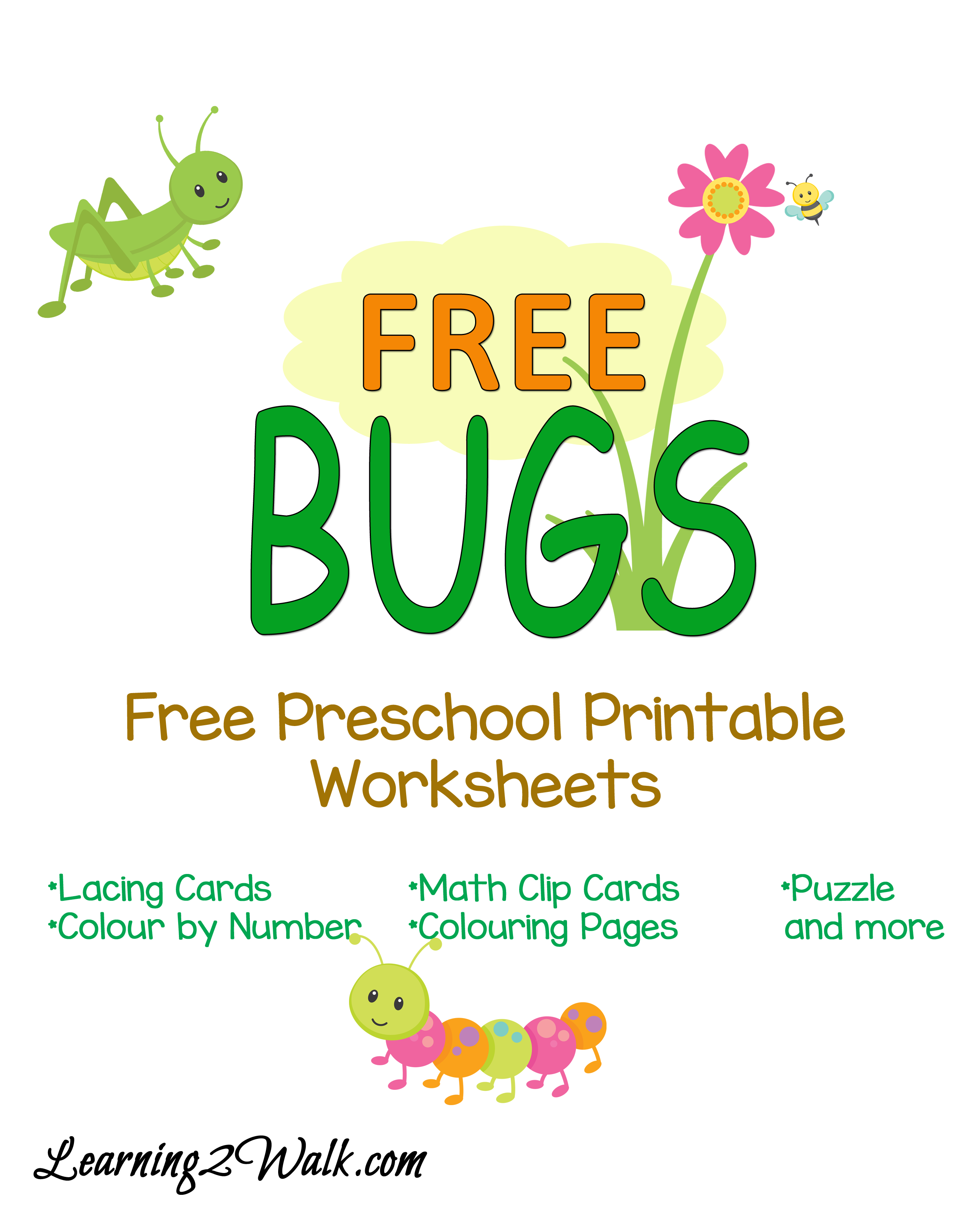 bring on the bugs but keep them at a safe distance of course - Free Preschool Worksheet