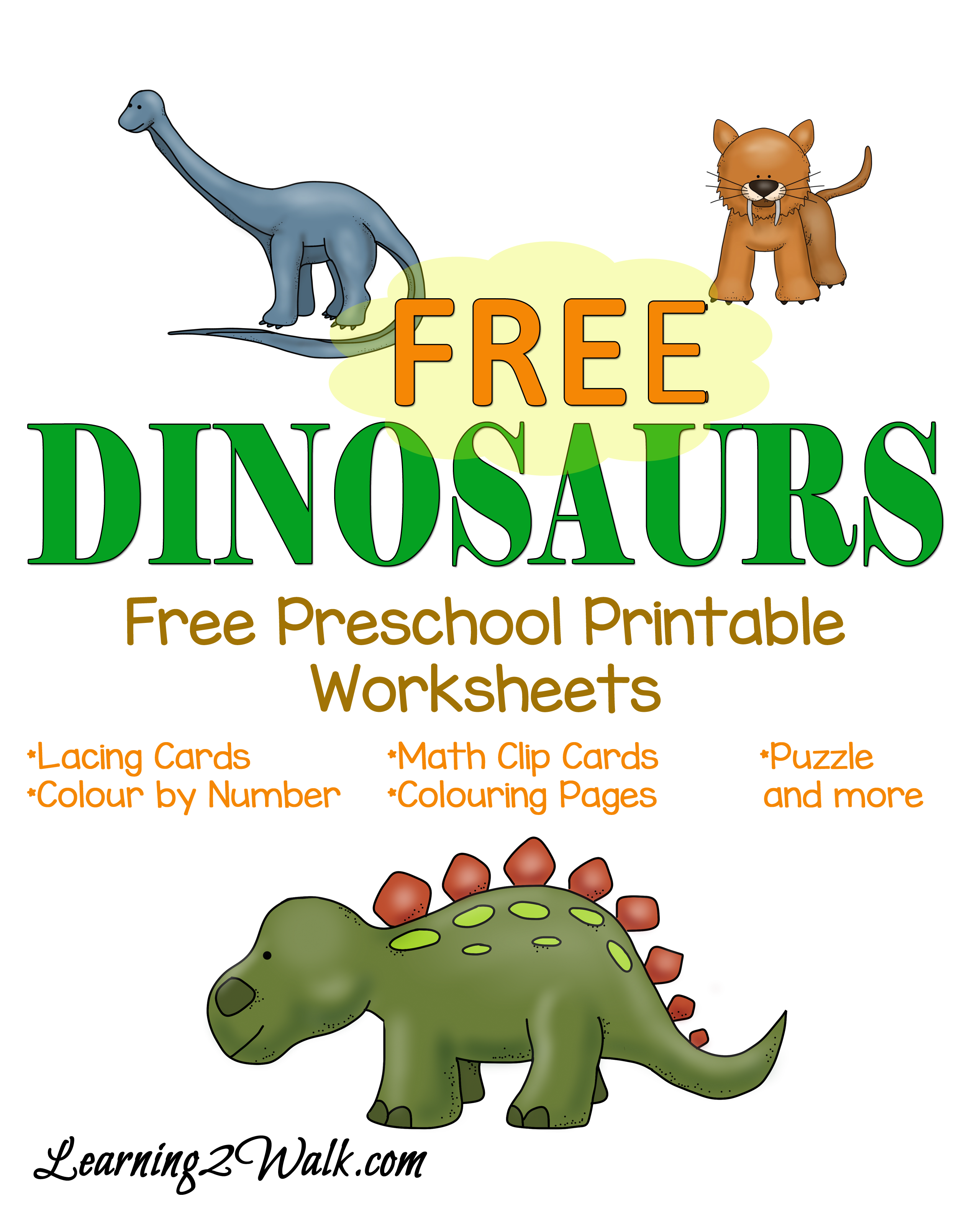 Printable Dinosaur Worksheets : Dinosaurs free preschool printable worksheets