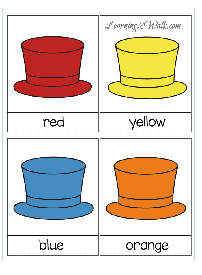 If you are looking for a few sight word games and sight word activities, try this hat themed sight word card game for learning colours with your preschooler