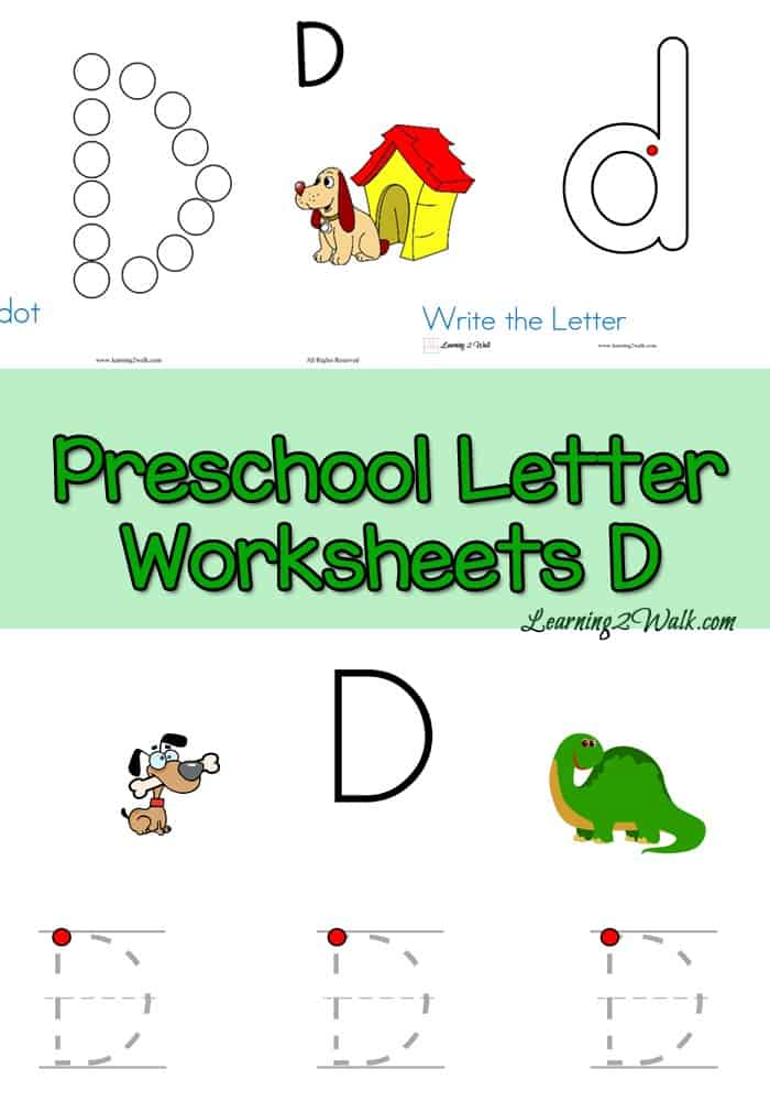 If you are working on your preschool letters, why not try our free preschool letter worksheets for the letter D?
