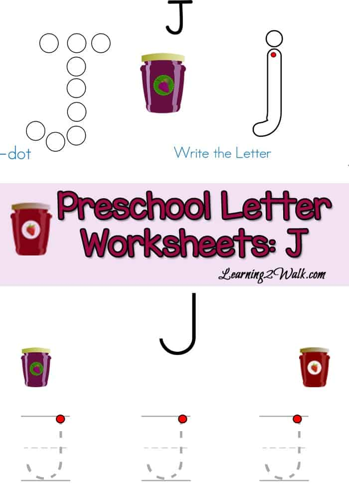 Are you looking for preschool letter activities? This preschool letter J worksheets printable for kids has do a dots, tracing pages and more. Preschool Letter Worksheets J