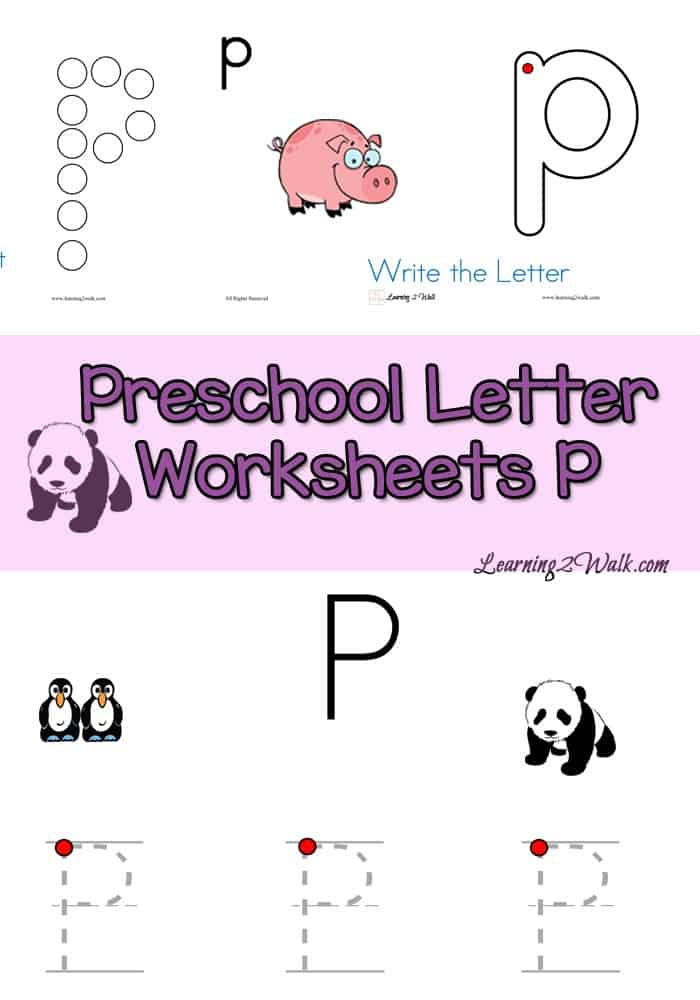 Can your preschooler write the letters of the alphabet? ABC, how about P? Here are some free preschool letter worksheets for P.