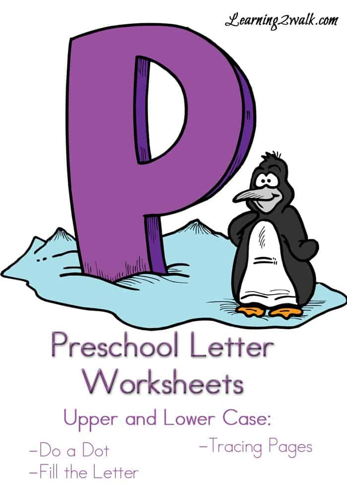 Can your preschooler write the letters of the alphabet? ABC, how about P? Here are some free preschool letter worksheets p.