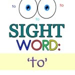 Are your kids working on their sight word recognition? My daughter is currently learning her sight words and so I made these 'to' sight word worksheets to help.