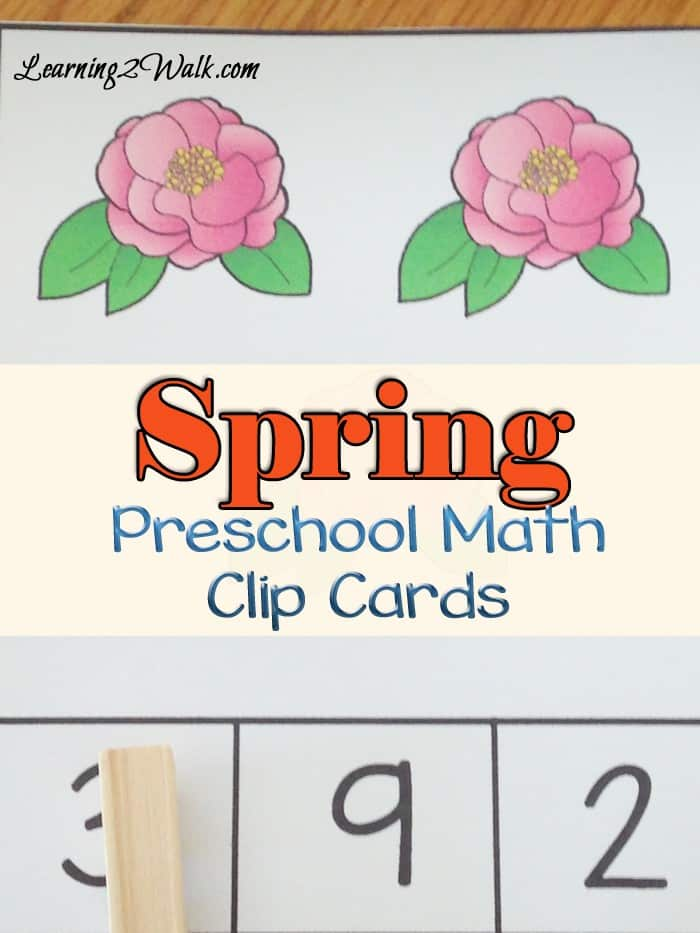 Why not ring in Spring with a few spring math preschool activities? Try our free spring math clip cards
