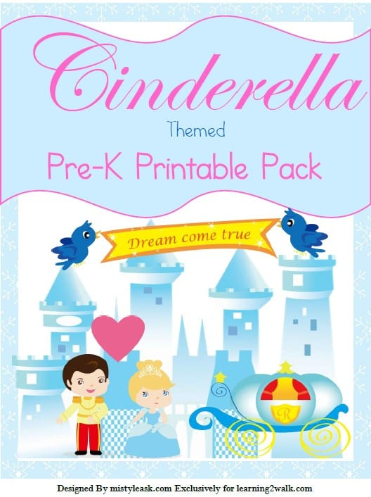 Love fairy tales of princesses and princes? Try these free Cinderella pre-k printable pack