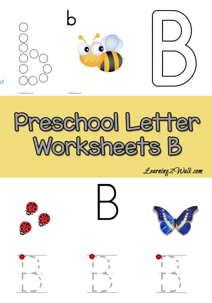 If your preschooler is working on writing the letters of the alphabet, try these free preschool letter worksheets for B