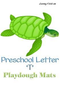 Preschool Letter T Playdough Mats