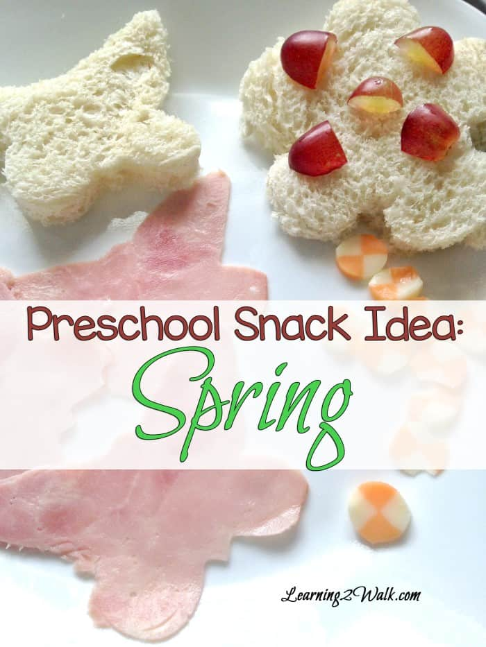 Looking for a Preschool Snack Idea for Spring? How about one that involves flowers and butterflies? Try this quick, easy and healthy preschool snack idea !