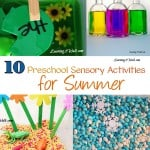 10 Preschool Sensory Activities for Summer