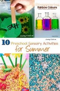 10 Preschool Sensory Activities for Summer