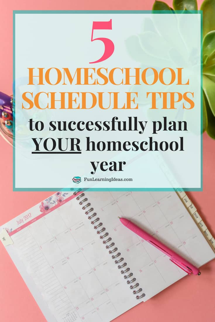 Creating a homeschool schedule can seem pretty hard. Here are a few homeschool schedule tips and ideas to help you homeschool successfully this year PS: There is also a free planning sheet!