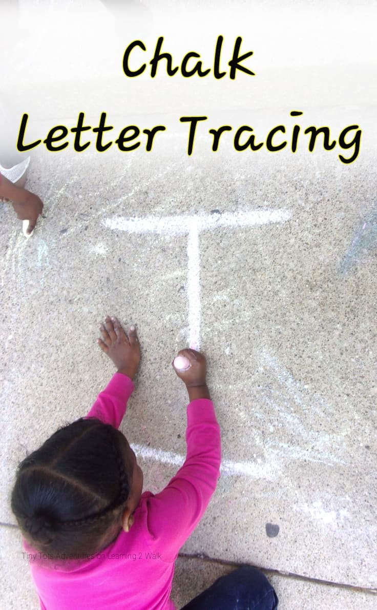 Chalk letter Tracing
