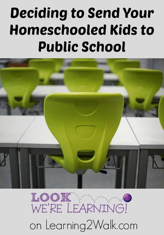 Are you tryig to decide whether or not you should send your homeschooled kids to public school? Then this post is for you.