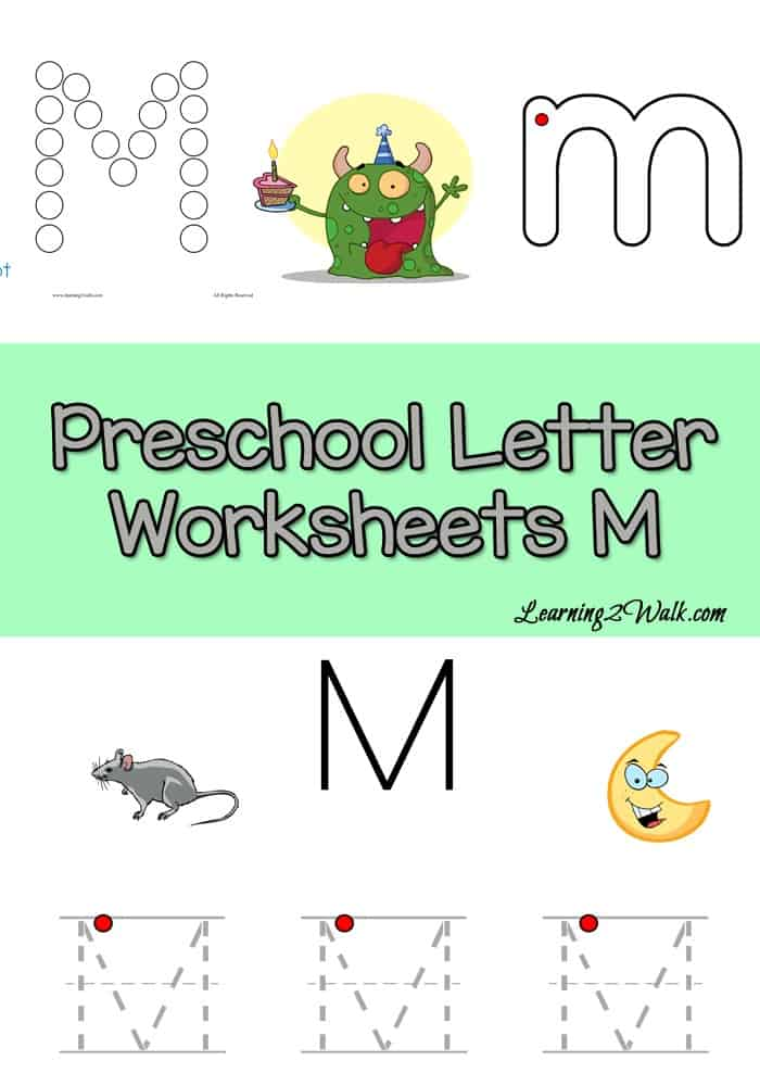 If your preschooler is working on writing the letter m, why not use these free letter m preschool worksheets?