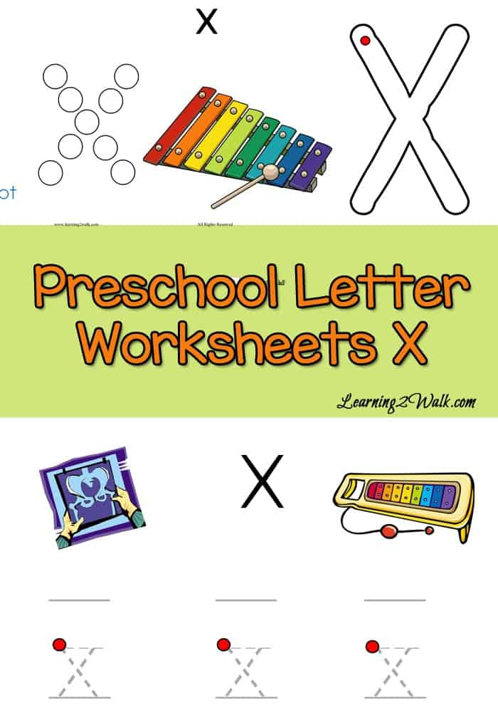 Working on letter recognition? These free preschool letter x worksheets are colorful and perfect for your preschooler. Your preschooler will love them
