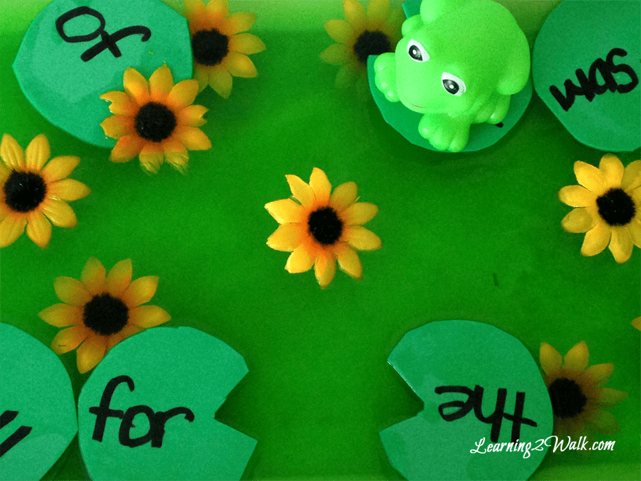 Jello pond sight word game. A fun sight word game for preschool pond theme
