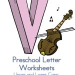 here are some fun and free preschool letter worksheets for the letter v