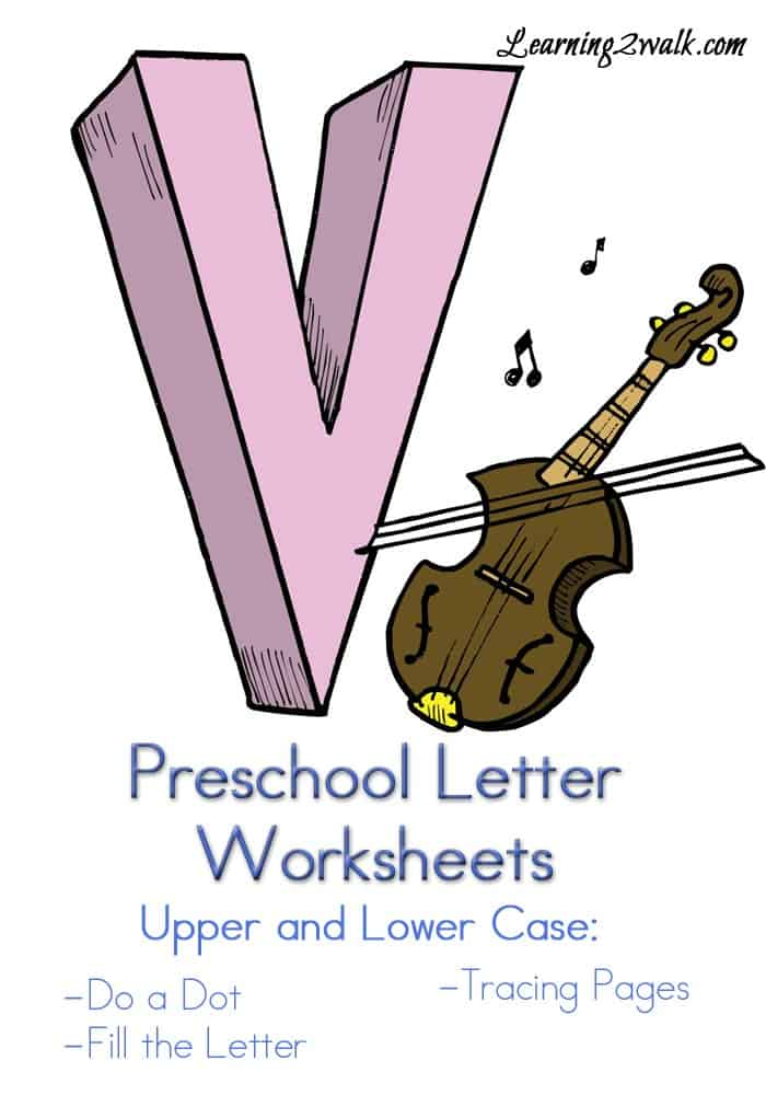 here are some fun and free preschool letter V worksheets