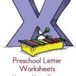 free Preschool Letter Worksheets for the letter x. Your preschooler will love them