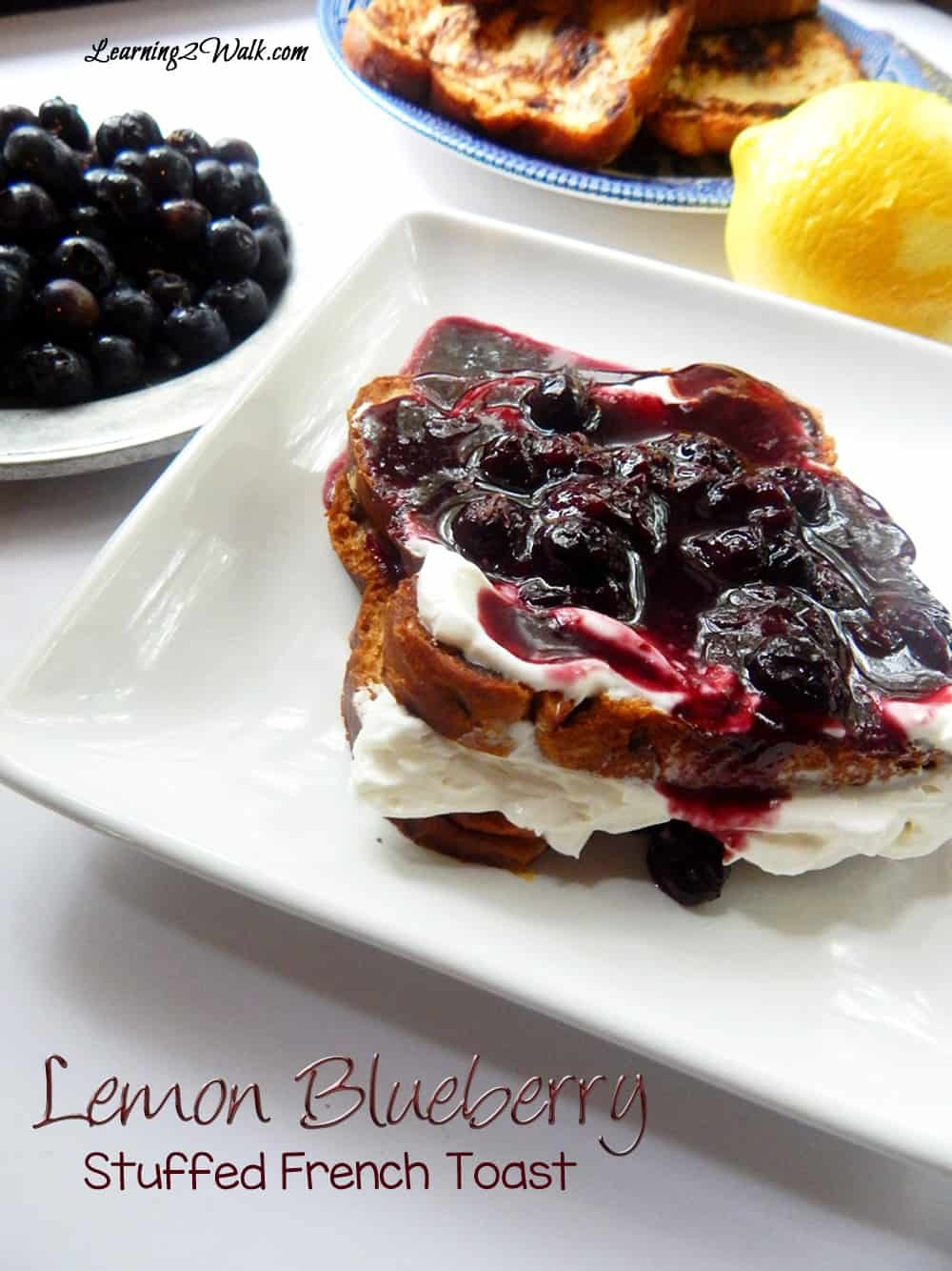 Looking for an easy recipe for breakfast? Try these lemon blueberry stuffed french toast