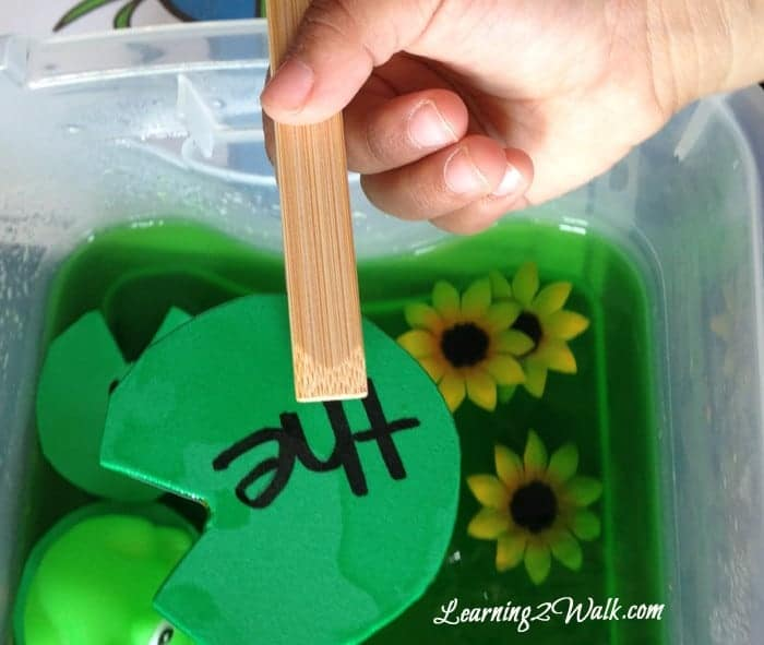 Jello pond dive a sight word recognition game