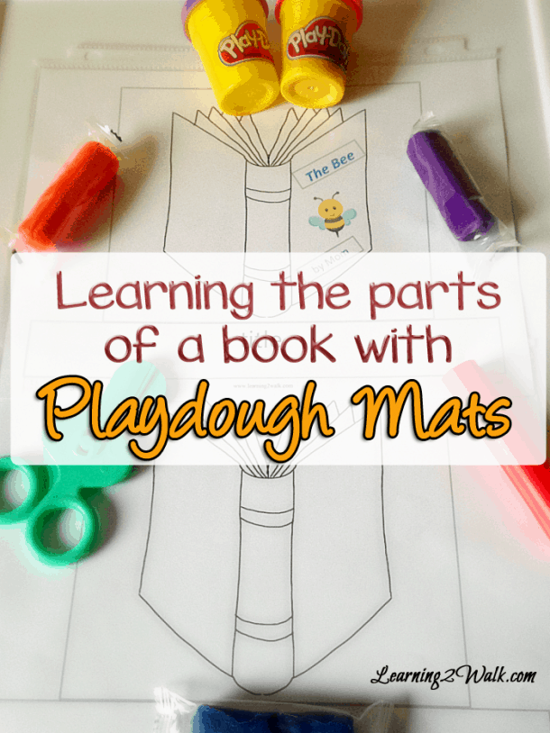 learning the parts of a book playdough mat pin