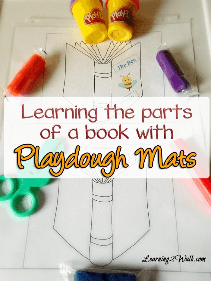 Parts of a Book Playdough Mats
