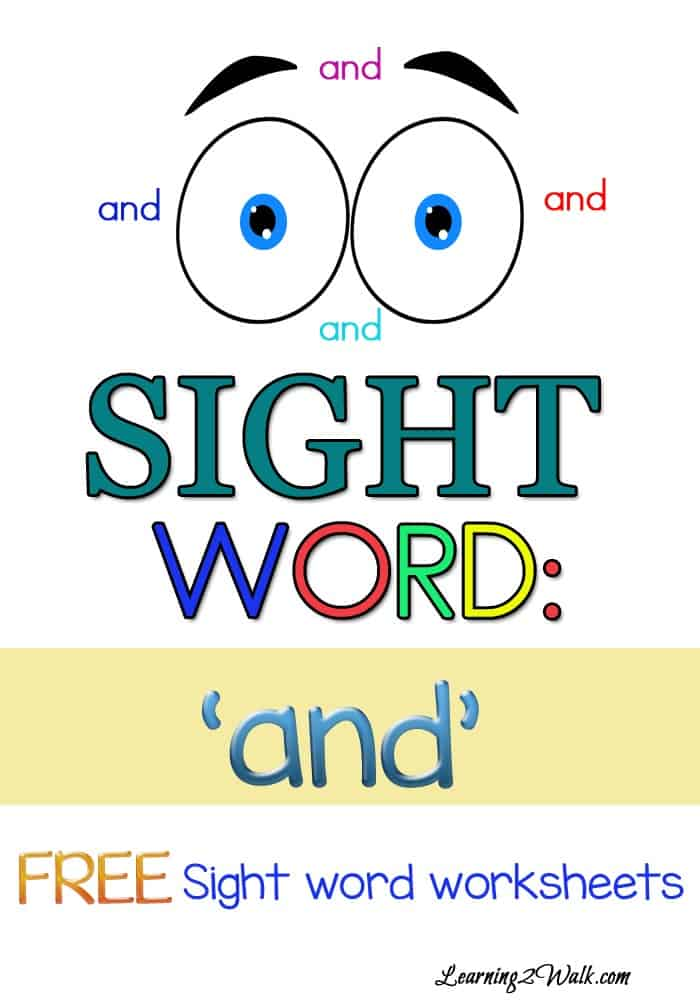 Try these free sight word worksheets for the sight word and