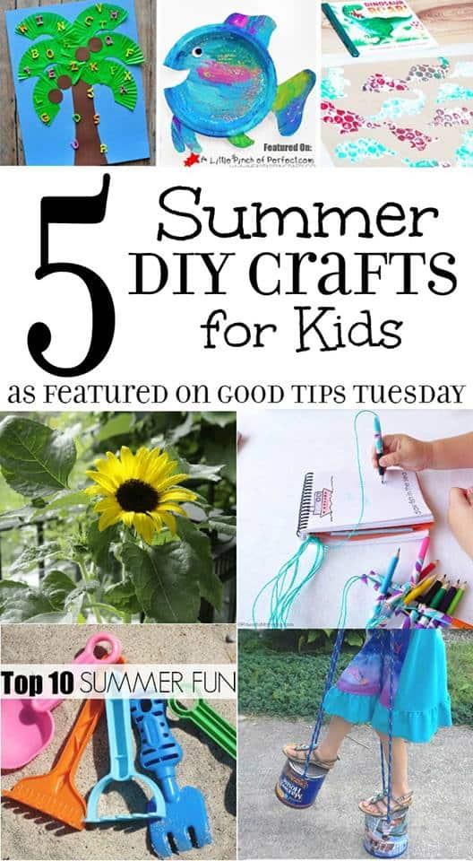 5 summer diy crafts for kids