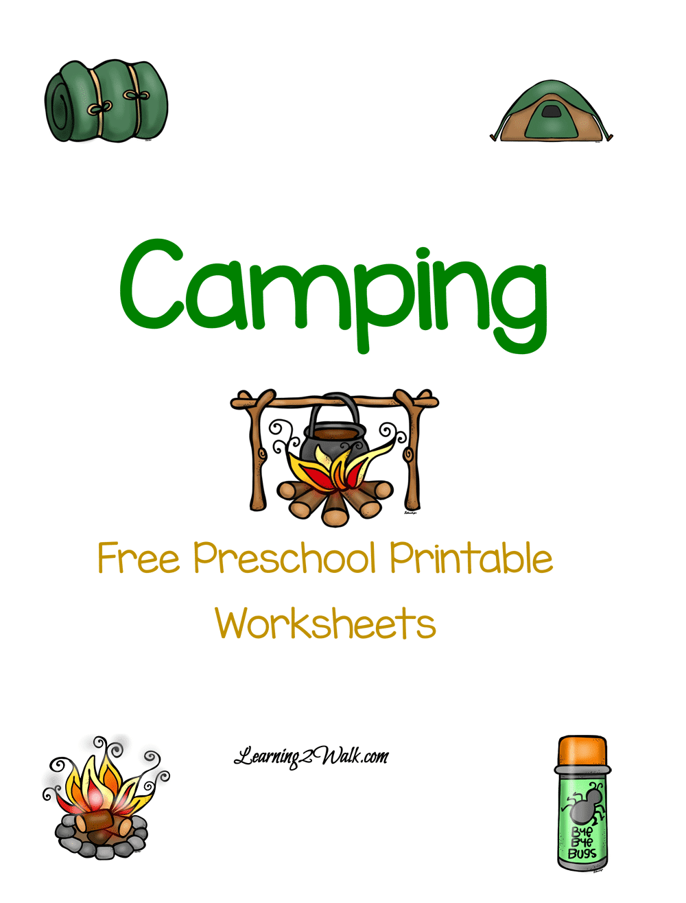 Looking for a for a fun camping printable for your preschoolers? Try these free preschool printable worksheets that is dedicated to camping