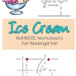 Can your kindergarten student write the numbers 1-30? No sweat, these numbers kindergaten worksheets will help plus they will love the ice cream theme as well.