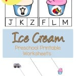 Here are a few free ice cream preschool printable worksheets to enjoy.