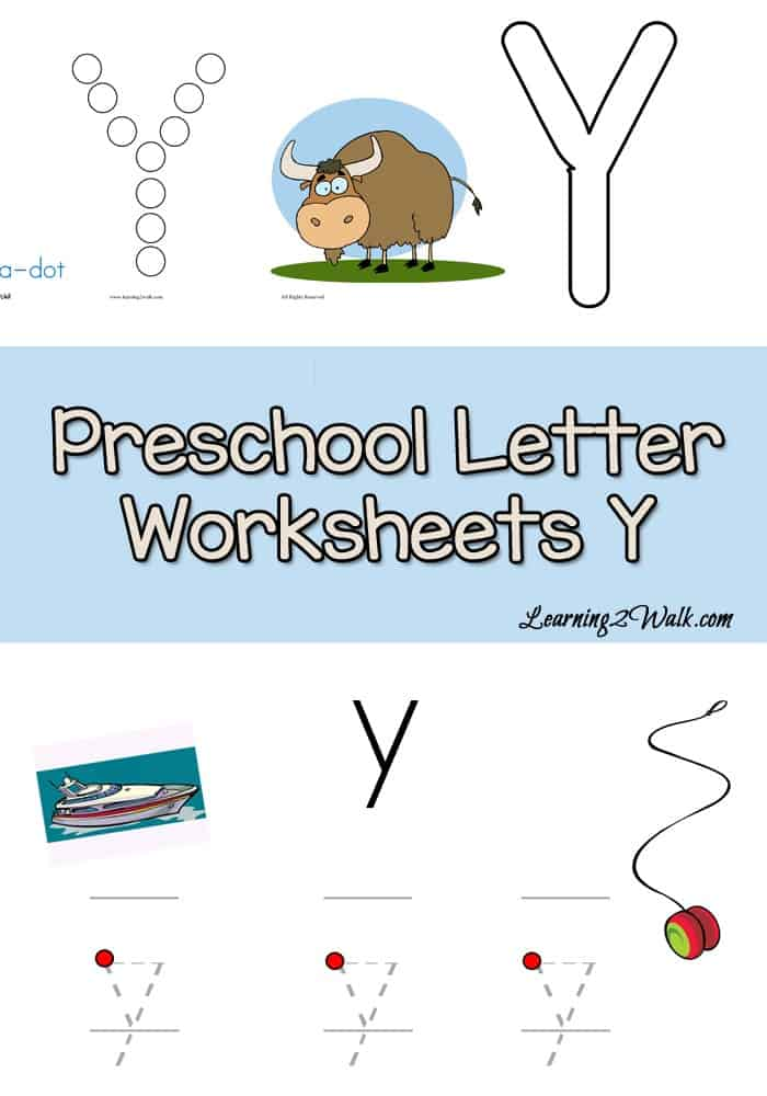If you are looking for a few preschool letter worksheets for Y for your kids, then try these free letter Y worksheets.