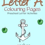 Working on preschool letters? Here are a few coloring pages that will make preschool letter activities for the letter a fun.