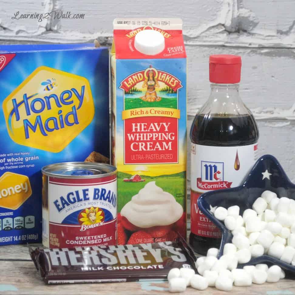 S'more ice cream ingredients