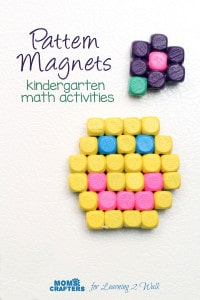 Looking for a few fun kindergarten activities? Why not make a few magnets with your kids?