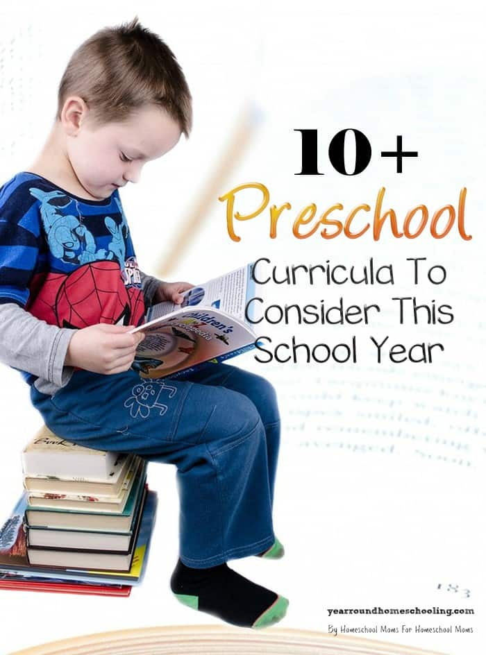 10 plus preschool curricula to consider this school year