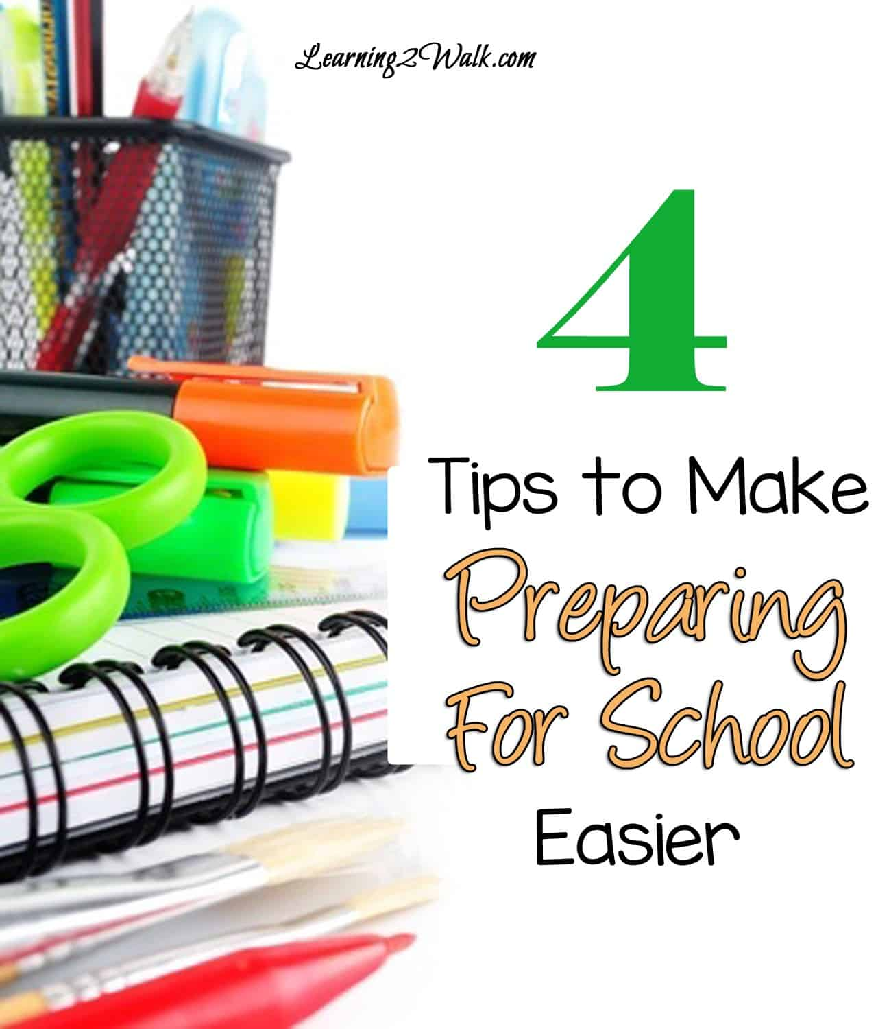 4 back to school tips to make preparing for school easier. Why not start the new year stress free?