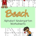 Why not work on writing the letters of the alphabet with these beach alphabet kindergarten worksheets pin