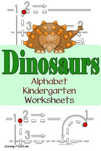 Working on writing the letters of the alphabet? Try these dinosaurs alphabet kindergarten worksheets
