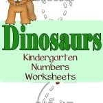 Want to work on writing the numbers 1 to 30? Use these dinosaur kindergarten number worksheets to help.
