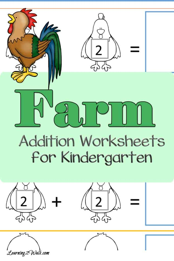 Work on your addition skills with these farm addition worksheets for kindergarten