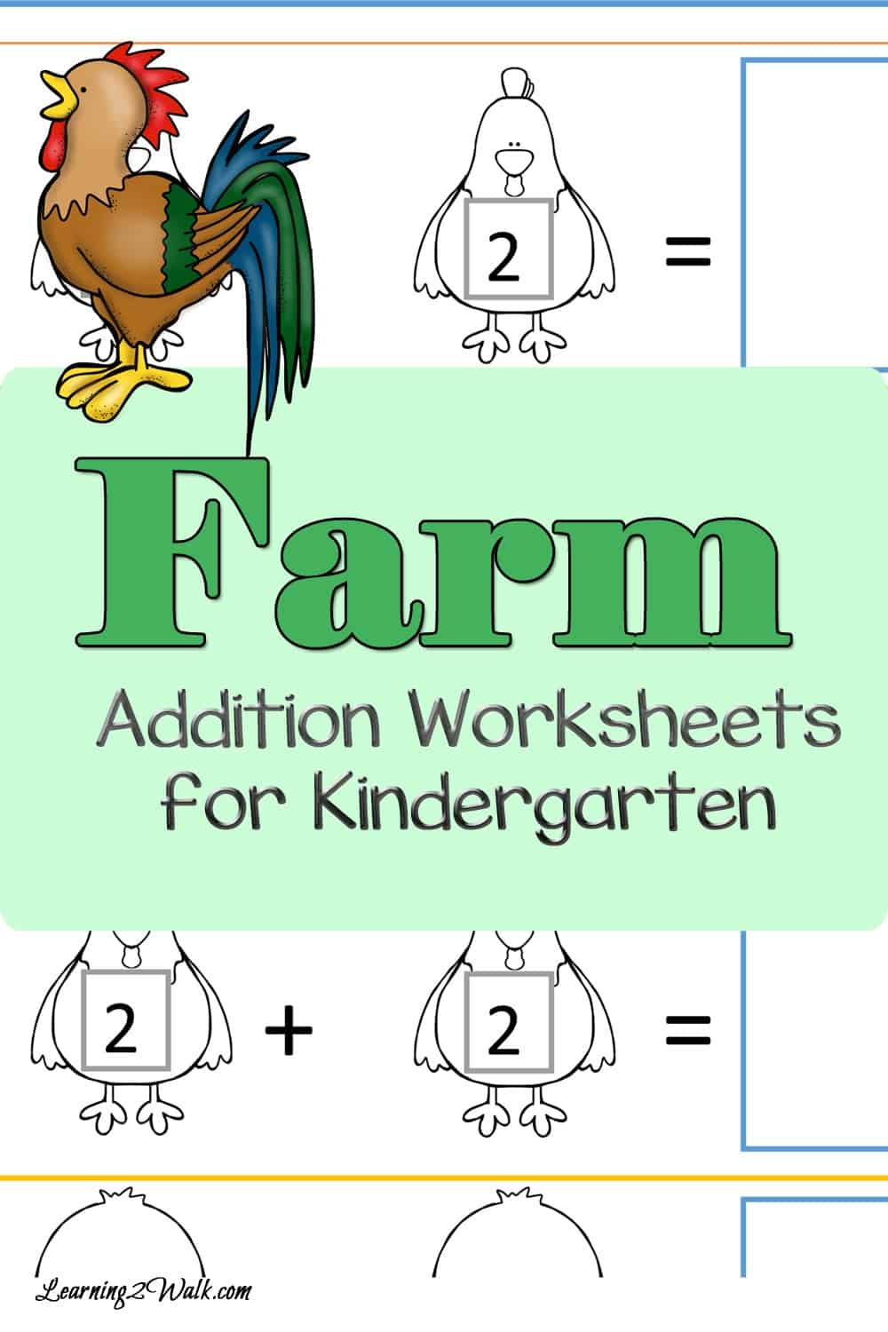 Work on your addition skills with these farm addition worksheets for kindergarten are hands on and sure to help your child!