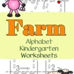 These farm alphabet kindergarten worksheets allows your kindergartener to work on writing the letters of the alphabet with a twist.