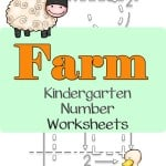 Allow your little ones to practice writing the numbers 1-30 with these farm kindergarten number worksheets.