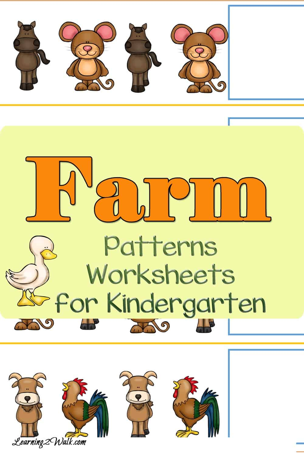 Does your kindergartner know how to solve patterns? Why not use these farm patterns worksheets for kindergarten to help?