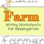 Allow your kids to practice their writing skills with these farm writing worksheets for kindergarten.